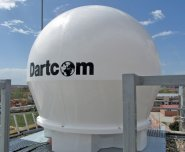 Dartcom radome-enclosed 1.5m parabolic dish and rotator