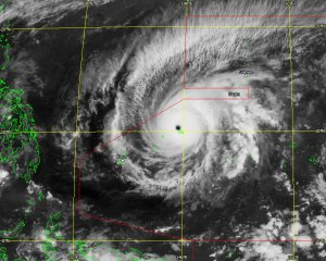 Super Typhoon Maysak on March 31st, 2015, extracted from a 10.4µm infra-red Himawari-8 image