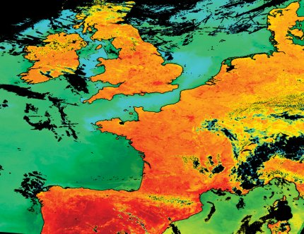 Terra MODIS Land Surface Temperature (LST) and Sea Surface Temperature (SST) products reprojected and combined