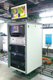 Equipment rack for marine antenna