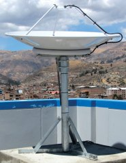 Dartcom 1.2m LRIT antenna installed at the University of Huaraz in Peru