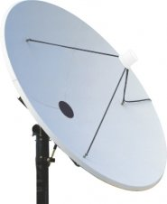 2.4m C-Band dish antenna and LNB