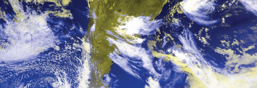 GOES GVAR image showing storms over South America