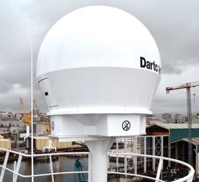 Marine antenna on Peruvian Polar Research Ship BAP Carrasco