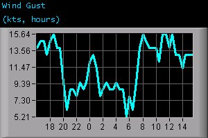 Wind Gust (kts, hours)